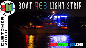 led color changing light strips color changing led light strip on boat youtube