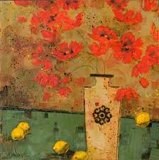 Vase With Red Poppies Poppies Kathy Womack Gallery