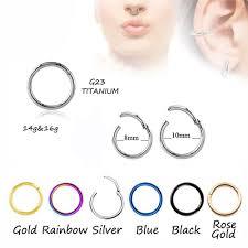 nose rings titanium images 2018 titanium g23 hinged segment nose hoop rings septum clicker jpg