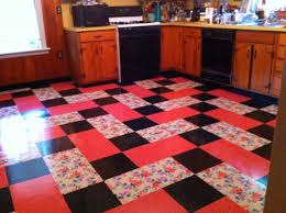vintage kitchen installed flooring vinyl printed vinyl tile