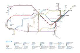 amtrak map usa this redesigned map of u s routes might you actually want