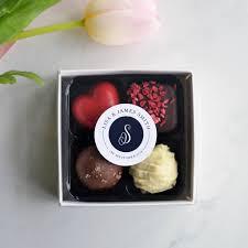 handmade chocolate truffle wedding favours