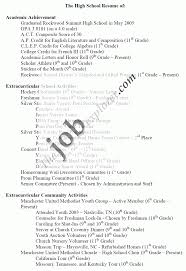 exle of high school resume college application resume exles new 22 sle high school for