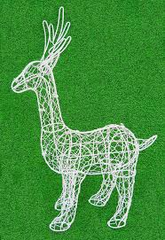 Topiary Dog Amazon Com Standing Deer 22 Inches High Topiary Frame Handmade