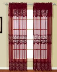 Sheer Maroon Curtains Valerie Curtains Burgundy United View All Curtains