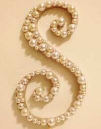 pearl monogram cake topper pearl monogram cake topper white or ivory pearls 26 50 via