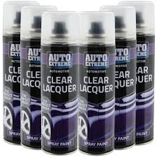 automotive clear lacquer spray paint 250ml aerosol fast metal