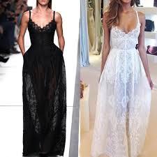 women summer long lace evening party dress ladies maxi skirt beach