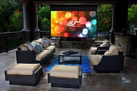 Backyard Projector Screen by News Elite Screens