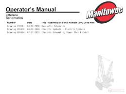 manitowoc crawler full manuals of service operator schematic