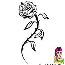tribal rose tattoo clipart best pattern design pinterest