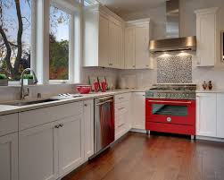Arts And Crafts Kitchen Design Red Stove Houzz