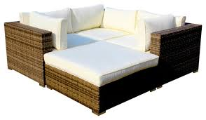 wicker outdoor sofa cottage outdoor 4 piece wicker sectional set contemporary