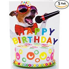 happy birthday singing beacon streets singing dog happy birthday cards 5 pack