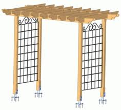 Arbor Ideas Backyard Iron Trellis Arbor Diy Backyard Arbor Yard And Garden
