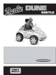 volkswagen barbie fisher price motorized toy car b3162 user guide manualsonline com