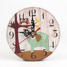 horloge de bureau design européenne vintage woody 12 cm hibou carré horloge de bureau home