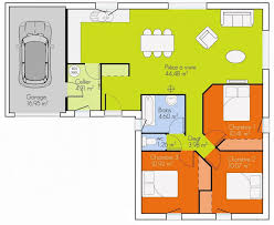 plan maison 3 chambres plain pied garage plan maison 3 chambres plain pied