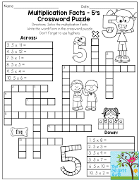thanksgiving facts for preschoolers multiplication facts crossword puzzle third grade students love