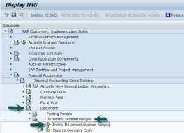 sap document types table sap fi document number ranges
