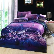Custom Bed Linens - pink purple bedding set silk satin super king size queen full