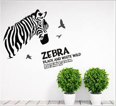 Home Decor Decals Zebra Diy Black And White Sketch Wall Stickers Home Decor Decals