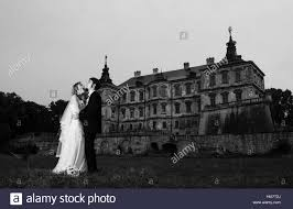 black scary halloween background wedding couple at night background old scary vintage castle black