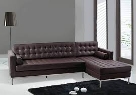 Modern Leather Sofa Clearance Furniture Contemporary L Shaped Grey Chaise Lounge Leather Sofa