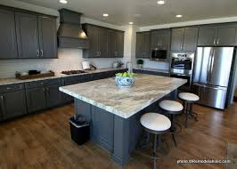gray kitchen cabinets with white crown molding remodelaholic 40 beautiful kitchens with gray kitchen cabinets