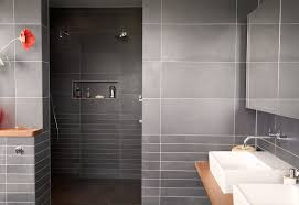 bathroom glass doors modern ceiling light grey shower curtain