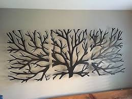 new sculpture wall 3d metal decor modern black wooden stained
