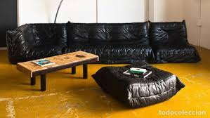 vintage togo sofa set wonderful black leather comprar