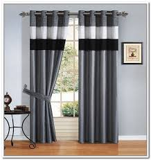 Black And White Stripe Curtains Brilliant Gorgeous White Bay Window Idea With Contemporary Striped