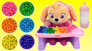 High Chair Toy Paw Patrol Skye Baby Rainbow Gumball Colors Magic Servin