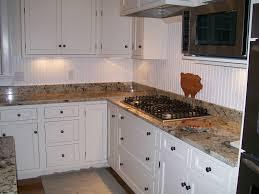 White Kitchens Backsplash Ideas Kitchen Backsplashes White Kitchen Cabinets With Beadboard