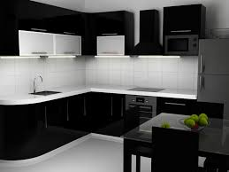 Black And White Kitchen Interior by Black And White Kitchen Interior By Candy22 3docean