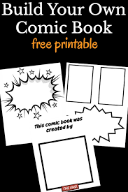 a free printable of comic book pages for kids to make their own