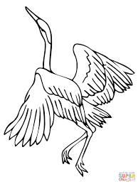 heron dance coloring page free printable coloring pages
