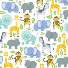 flat wrapping paper jillson eco line gift wrap baby zoo 6 count r268