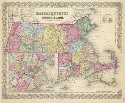 Massachusetts State Map by Prints Of Old Massachusetts State Maps