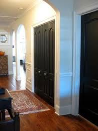 Painting Interior Black Interior Doors Pewter Walls White Door Frames Wonder How