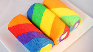 how to make rainbow cake roll cake roll recipe 彩虹蛋糕卷 youtube