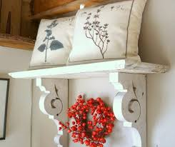 Shabby Chic Bookshelves by Antique Shabby Chic White Wood Hanging Wall Shelf Mantel Cottage