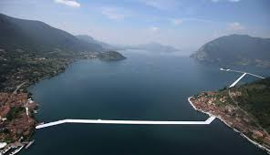 Floating Piers by Artist Christo Walks On Water With