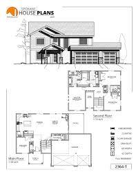 Garage Office Plans 2364 T Spokane House Plans