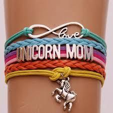 love braid bracelet images Infinity love heart bracelets unicorn mom braid charm wrap orange jpg