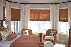 master bedroom window treatments bedroom traditional with bench