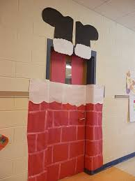 santa in the chimney christmas doors pinterest classroom