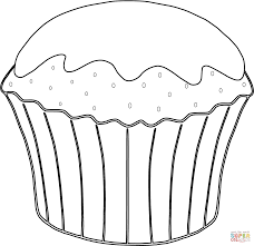 muffin coloring page free printable coloring pages