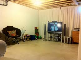 enchanting inexpensive unfinished basement ideas with unfinished